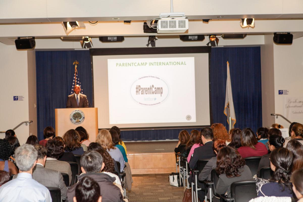 Photo Acting Deputy Secretary James Cole welcomed PareAntCampers