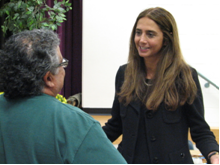 Dr. Melendez speaks with a parent.
