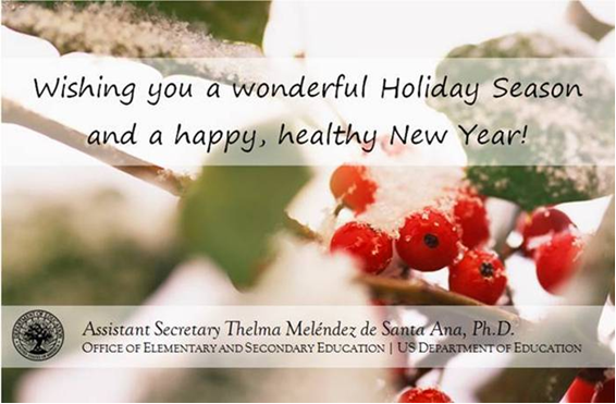 Wishing you a wonderful Holiday Season and a happy, healthy New Year!