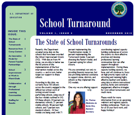 School Turnaround Newsletter - December 2010