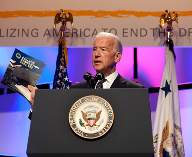 Vice President Joe Biden speaks at the GradNation Conference at the Marriott Wardman Park, in Washington, DC, March 22, 2011.