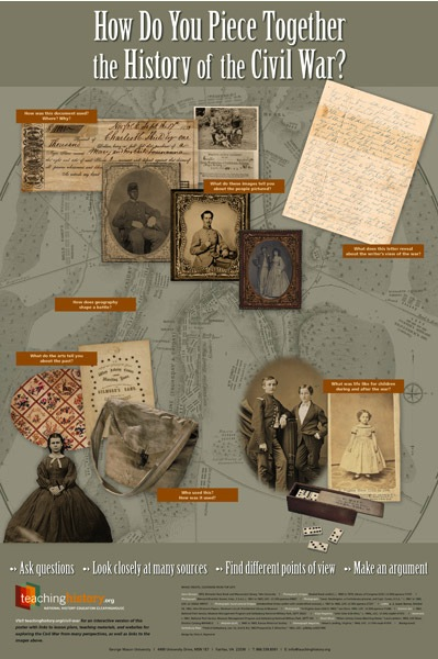 The poster from the National History Clearinghouse pieces together the Civil War for teachers and students of American History.