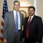 Afghanistan Minister of Education Ghulam Farooq Wardak and Secretary Duncan