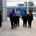 Secretary Duncan arriving at Hattiesburg High School