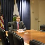 Secretary Duncan joins the discussions in Canberra, Australia by video conferencing during International Education Week