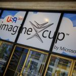 Secretary Duncan greets students participating in the Imagine Cup 2011 Worldwide Finals in New York.