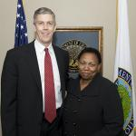 South African Minister of Basic Education Angie Motshekga and Secretary Duncan
