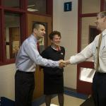 Secretary Duncan thanks Matt Tosiello, the Arlington County Teacher of the Year.