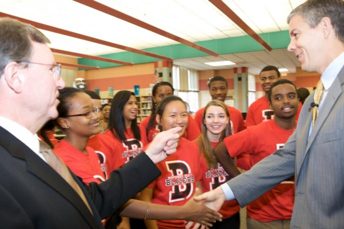 Secretary Duncan meets Montgomery Blair High School students